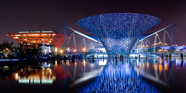 上海世博园 展示完整的雨水收集系统